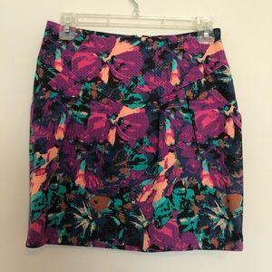 Silence + Noise Floral Print Mini Skirt size 4
